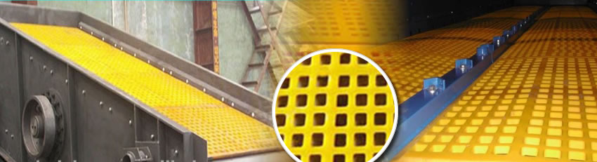 Abrasion Resistant Polymer Vibrating Screen