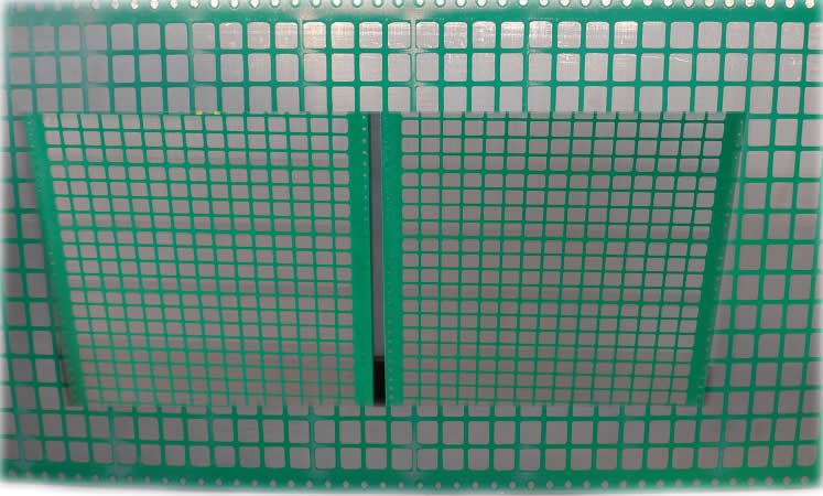 Industrial Sifting Screen with Plastic Mesh Grid for Mineral Material Processing